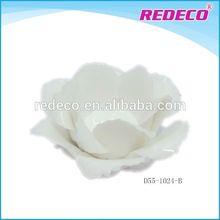 Ceramic white flower hand made