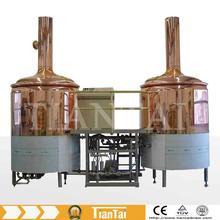 mini,bar,craft,luxury red copper,200L-1000L beer manufacturing equipment