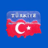 Polystone/Resin/Polyresin Turkiye tourist souvenir magnet