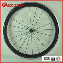 alloy wheelset for bike glossy finish Clincher Road Bike Carbon Wheelset