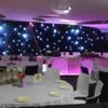 2015 good quality black velvet stage decoration/led star cloth