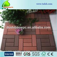 Outdoor Plastic Wood Floor Tiles/WPC DIY Decks