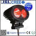 Cree 6w led de luz de seguridad, 9-60v carretilla elevadora led de luz de color rojo azul spot