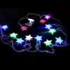 colorful waterproof led star light string festoon light