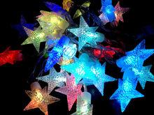 waterproof festoon color changing led star light