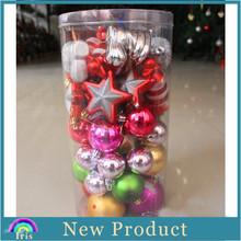 2014 fashion Christmas tree ornament,plastic Christmas ball, ,plastic Christmas star PRF031