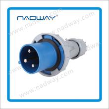 waterproof plastic Panel mounted Industrial Socket Electrical plug&socket 3p+n+e industrial plug and socket