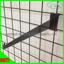 Metal shelf bracket for gridwall