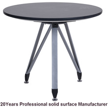 Factory direct wholesale custom solid surface round stone top dining tables
