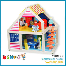 Wood House Model Doll House Toy 3d Wooden Puzzle House