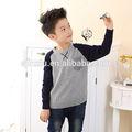 moda impresa kintted suéter de los niños los niños chaleco de punto patrón niño suéter sin mangas