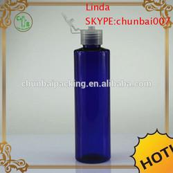 blue Plastic flip top cap bottles 200cc