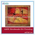 100% abstracta hecha a mano de pintura al óleo sobre lienzo de arte africano