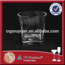 Unique round bar glassware with square bottom