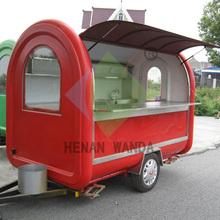 price of Fibreglass Food Van/Breakfast Mobile cart /Mobile cooking trailer