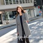 2014 Autumn and Winter Cashmere Woolen Jacket Women Medium-long Suit