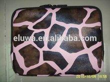 Factory Zebra fashion PU leather laptop bag