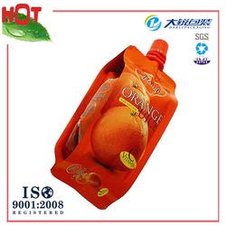 Customized safe children juice spout pouch for Christmas