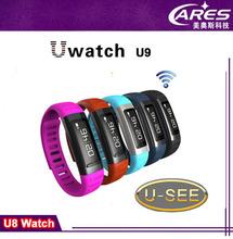 2014 newest model uwatch u9 Smart Wrist Watch Bracelet Sport Running Health Watch