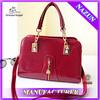 elegant design women red patent leather handbag wholesale in china