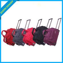 Durable cheap nylon 2pcs set travel luggage bags for kids