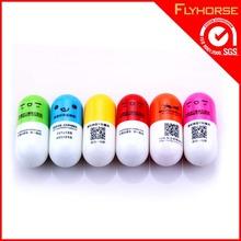 Cute pen,smiley face pill capsule ball pen painting,vitamin ball pen