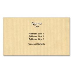 Custom recycled printed kraft paper business card