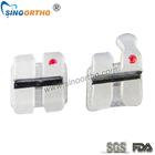 china white dental metal insert ceramic bracket
