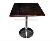 Best price modern design metal base wooden coffee table