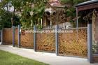 popular laser cut art metal fence for garden decoration