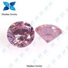 Pink round brilliant cut 10 arrows cubic zirconia gems for women