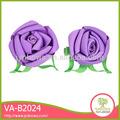 belo casamento decoração valentim rosa flor de fita