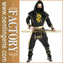 chegada nova black samurai cosplay traje de homem
