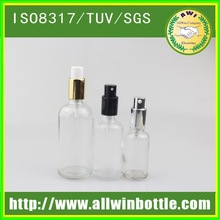Hot sales for female e liquid clear/amber/blue/colorful glass bottles 15ml with colorful child proof cap