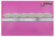 High quality long rhinestone belt ornament for lady dress belt decoration