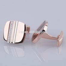 Rose Gold Stainless Steel Cufflinks