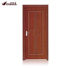 Interior office door swing open type teak wood door design