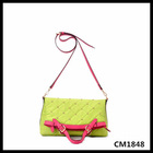 apple green long shoulder fashion lightweight handbag