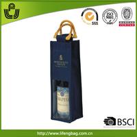 Wholesale promotional 2014 latest design burlap wine bag