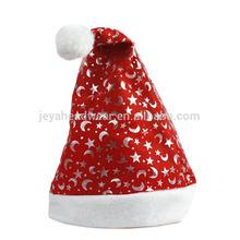 Non-woven funny santa hat printed star and moon christmas hats happy christmas day santa hat