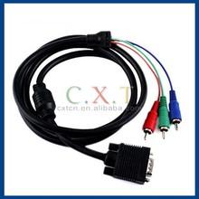 hot sale vga rca converter cable ,vga to 3rca adapter, scart to vga converter