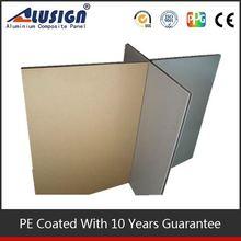 alusign indoor wall cladding in aluminum composite panel