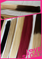 Factory wholesale price best quality after washing curl holding two tone color hair weft/meche