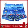 oem çocuk her yerinde baskı deniz desen tasarım yüzmek pantolon