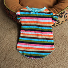 Lovely Colorful Stripe Dog Clothes with Ribbon Bow