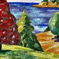 Jy-jh-ss02 interni casa di taglio della parete del mosaico murale in vetro arte foto mosaico
