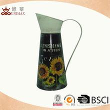 Home decorative sunflower jug/metal flower jug/small metal pitcher
