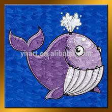 Handmade Cheap Cartoon Oil Painting Fish