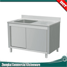 high quality commercial stainless steel kitchen sink cabinet