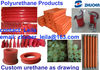 Custom Molded Polyurethane Parts with Metal Inserts